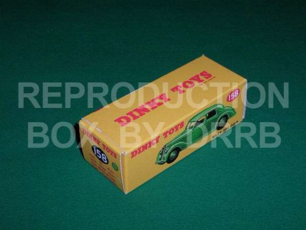 Dinky #158 Riley Saloon - Reproduction Box ( Green )
